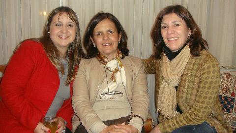 Carolina e Leila Kowalski com amiga Miriam Cristofolini Rocha