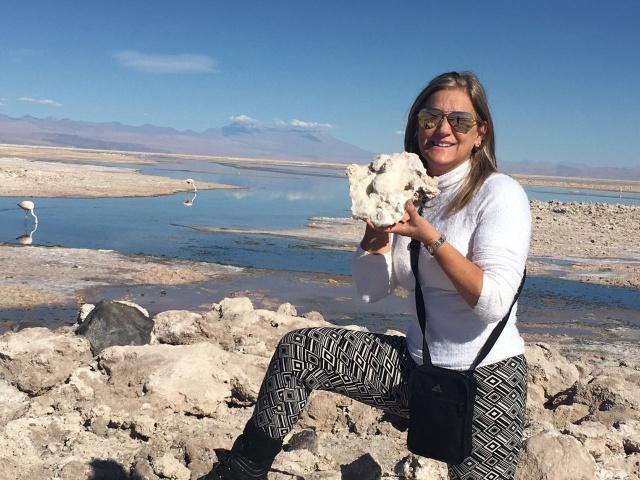 Sônia Furtado conhecendo as maravilhas do Deserto do Atacama