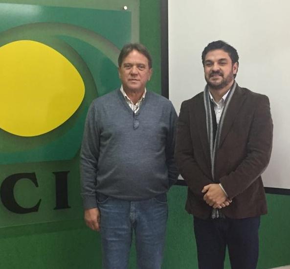 Sadi Montemezzo recebeu a vista do presidente da Junta Comercial de Santa Catarina, Júlio Cesar Marcelino Jr Foto Puel Assessoria