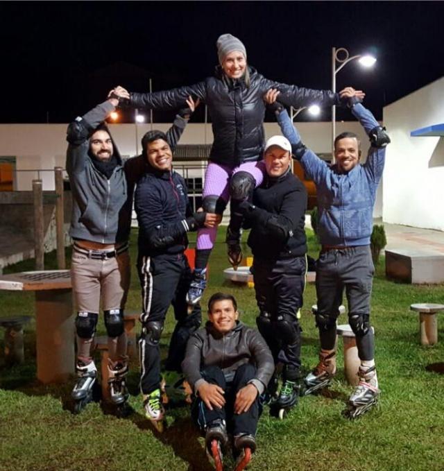 O grupo Rollers Lages está na maior animação preparando o Arraiá Bota de Roda