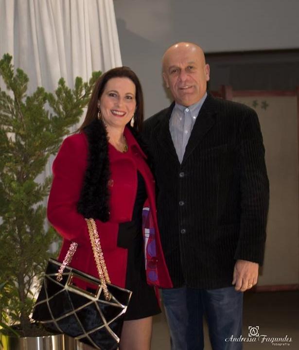 Miriam e Paulo de Andrade prestigiando evento na Serra Catarinense Foto Andressa Fagundes