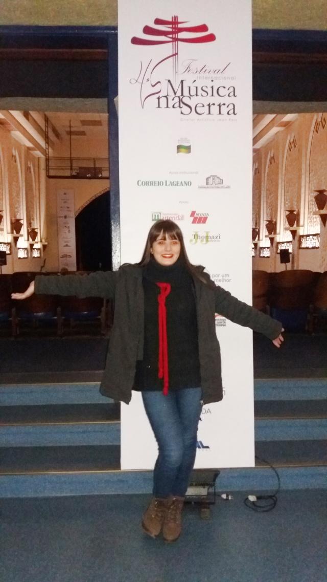 Quem tem coração e alma de artista sempre se encanta com Festival Internacional Música na Serra... E com toda certeza, essa regra se aplica muito para a sorridente e talentosa lageana Pamela Aguiar