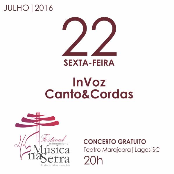 Convite Concerto 22 de julho