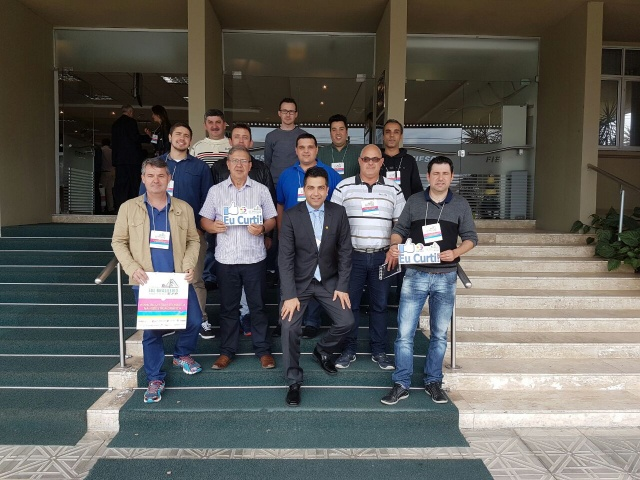 Empresários gráficos da Serra Catarinense participaram do 2º Seminário Sul Brasileiro da Indústria Gráfica, em Florianópolis Foto Catarinas Comunicação