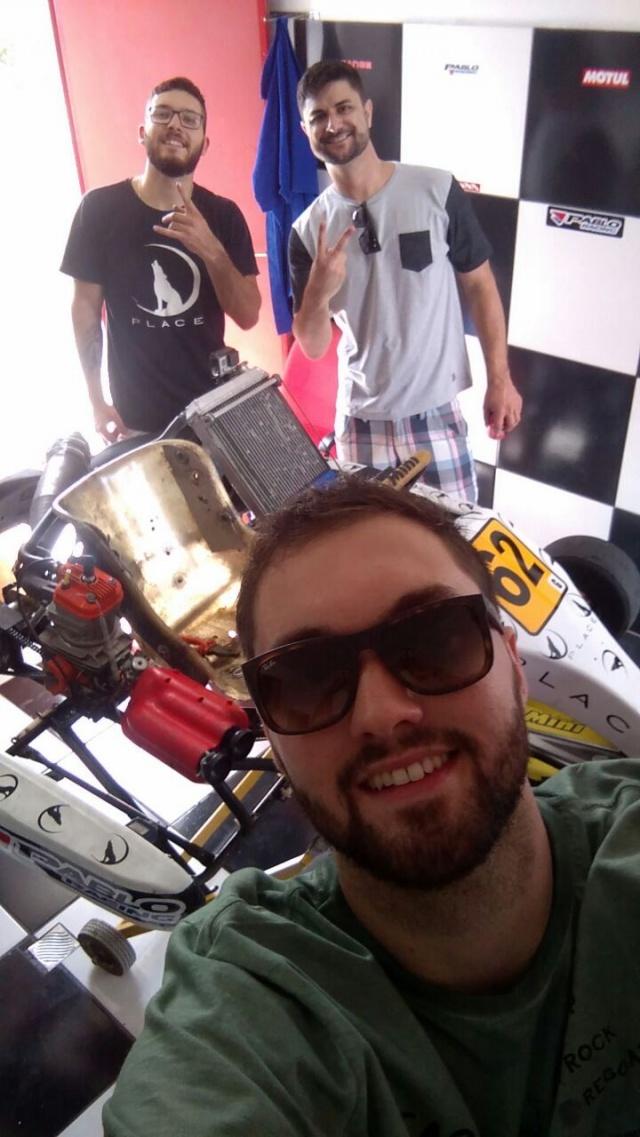 Rafael Paim festejou seu aniversário essa semana na maior animação no Kart. Entre os amigos estavam Rafael Dambrós e Kaique