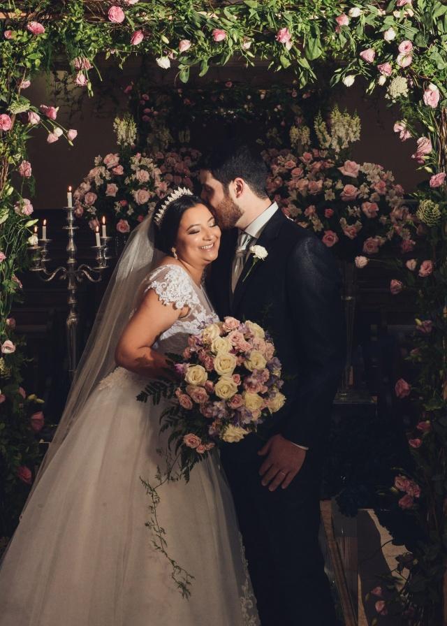 Samir Machado da Silva e Tâmara Carvalho Lima... Recém-casados e felizes! Foto Nando Velho