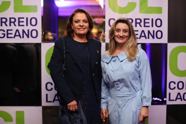 Ângela Ribeiro e Elise Branco de Liz prestigiando o Prêmio Empreendedor José Paschoal Baggio Foto Memorizze