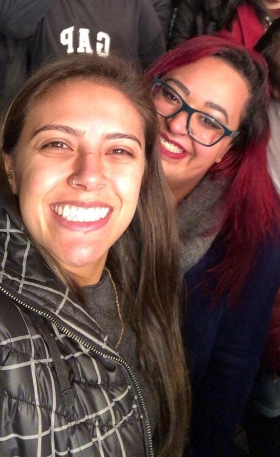 A Leoa Diana Santos com Vitória Bittencourt