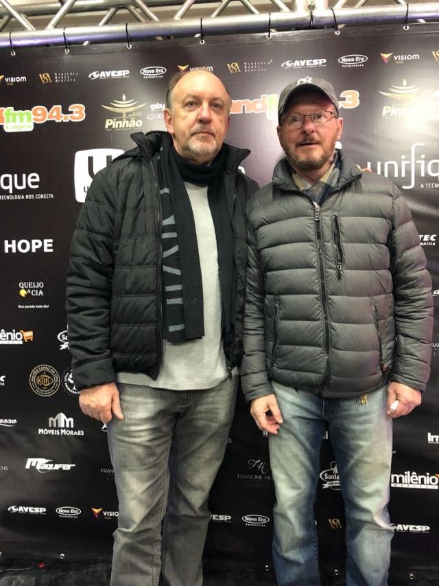 Paulo Marques com o diretor da GDO Produções, Lauri Schoennherr