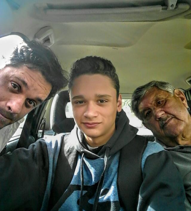 """Fabrício, Augusto e José """"Pitota"""" Furtado. Família com muita história no cinema lageano, um diretor, um ator e o patrocinador"""