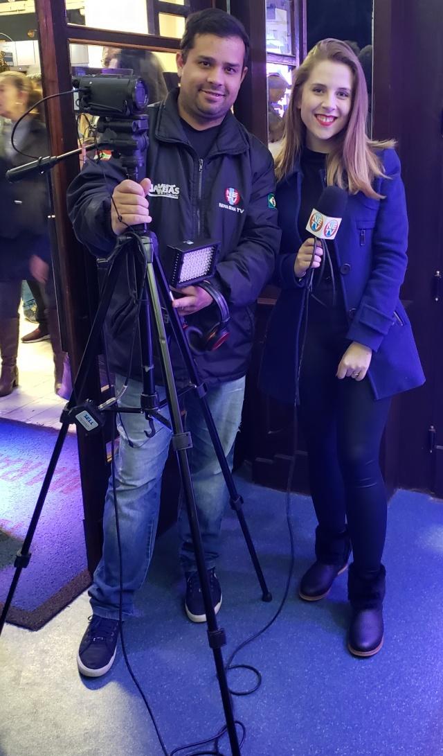 Ananda Sell e Roger Alves realizaram para a Nova Era Tv a cobertura completa do Música na Serra
