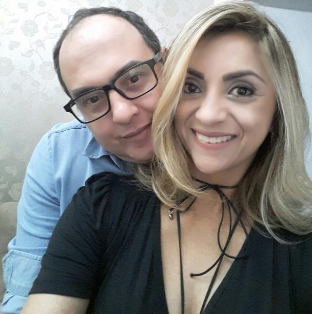 Silmara Godoi com seu namorado Mauro Mortari que hoje festeja mais um ano de vida. Parabéns!