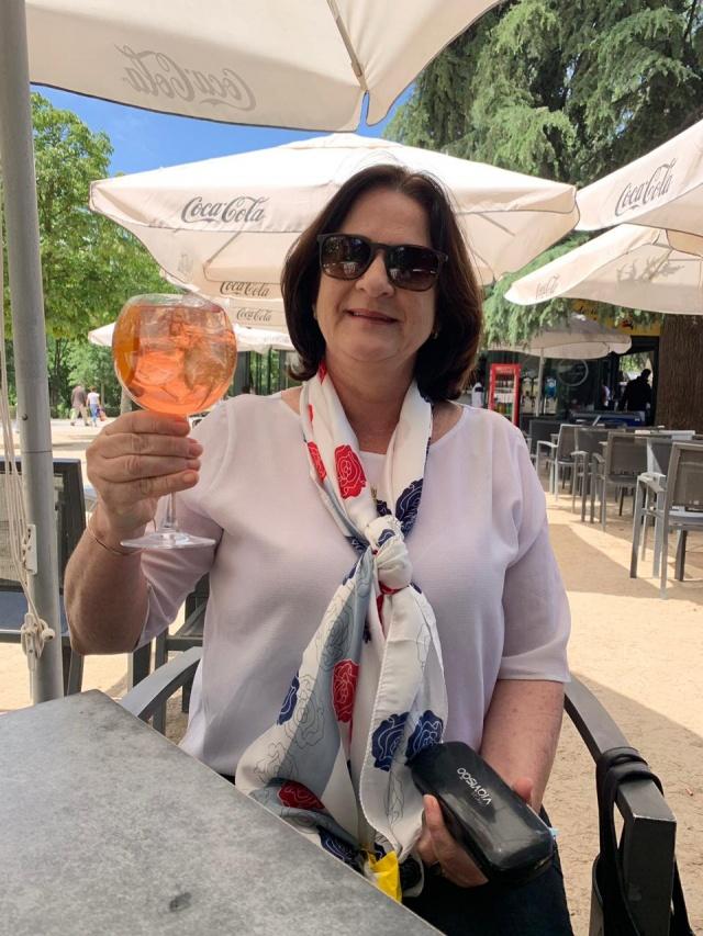 Mônica Holtrup Wolff curtindo os ares e as maravilhas da Espanha