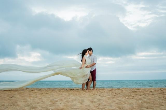 Um mês de casados! Click lindo dos recém-casados Marina Schlischting e André Machado