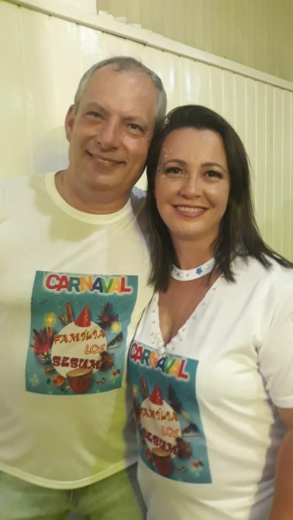 Rubens e Teodolina Pagani curtindo o carnaval do Clube Astrea, em São Joaquim Foto Bia Melo