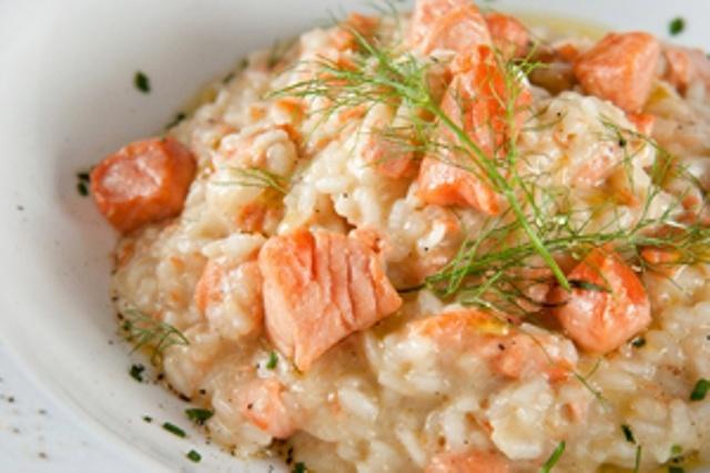 Risoto de salmão Binatti