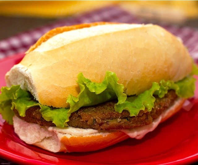 hamburguer de berinjela