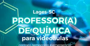 PROFESSOR DE QUÍMICA  URGENTE