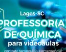 Procura-se PROFESSOR DE QUÍMICA