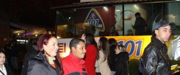 Rádio 101 FM: cinco horas de transmissão a cada noite da festa