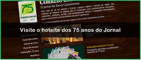 Hotsite 75 anos Correio Lageano