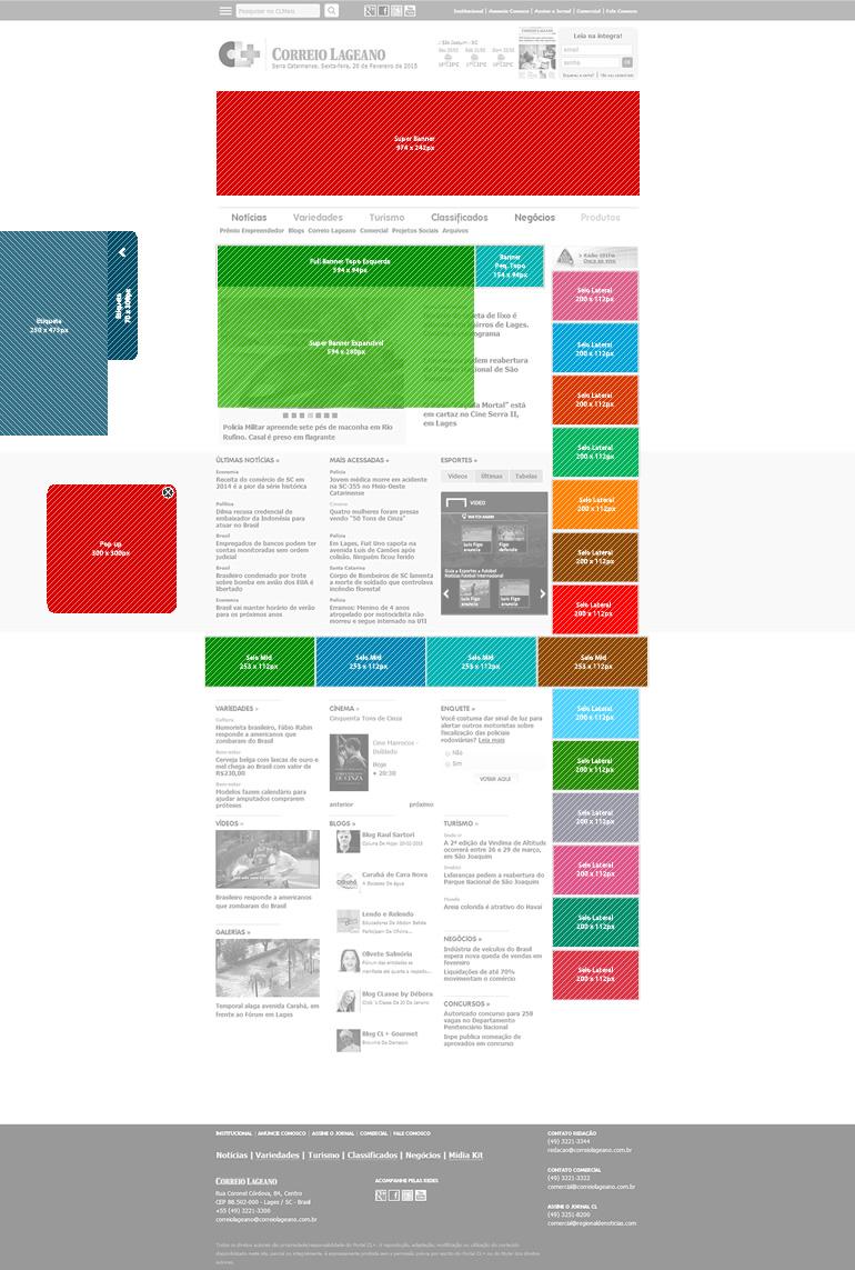 Anúncios página inicial (Home) - modelo 1