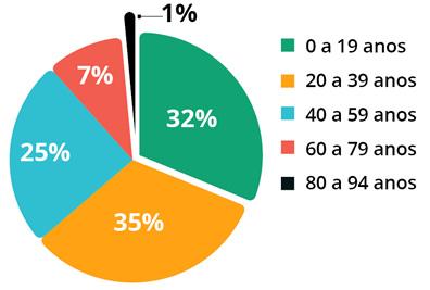 gráfico Perfil da População em Lages